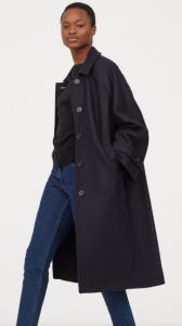 manteau bleu marine H&M