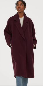 manteau prune H&M
