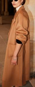 manteau en drap de laine beige The Kooples